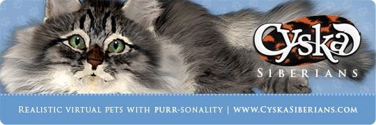 Cyska Banner - Realistic virtual pets with purr-sonality